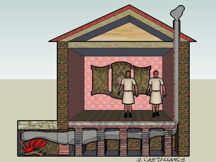 Hypocauste romano